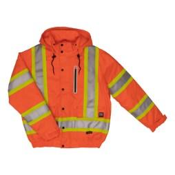 orange safety bomber jacket front