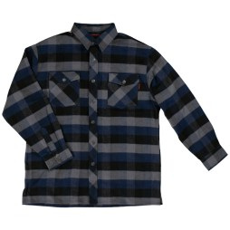 flannel overshirt blue front