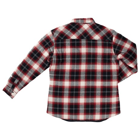 womens quilt lined flannel shirt red back
