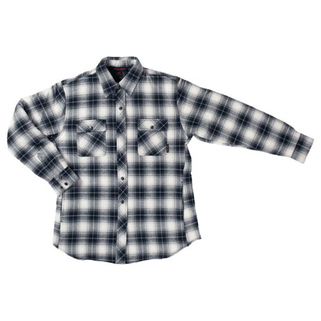 womens quilt lined flannel shirt grey front