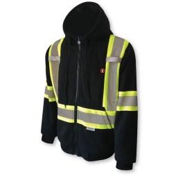 black heated hoodie front