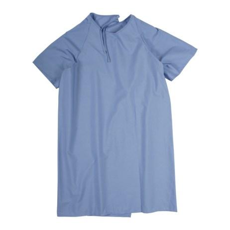 petrol blue patient gown