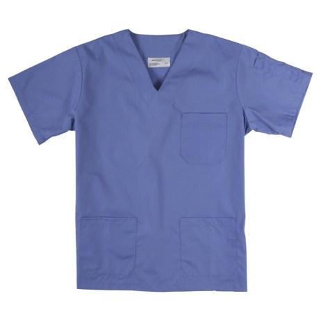 light blue scrub top