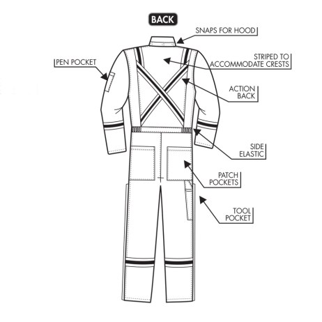 IFR 201 coverall detail back