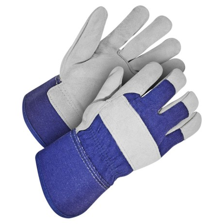 Blue and Grey Gloves