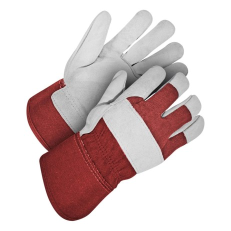 Red and Grey Gloves