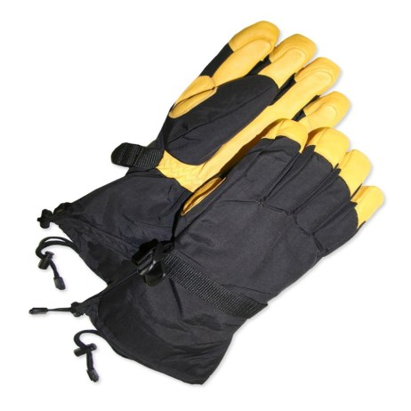 Black and Yellow Gloves