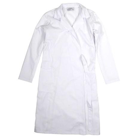 White Wraparound Coat