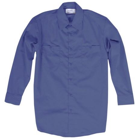 blue long sleeve work shirt