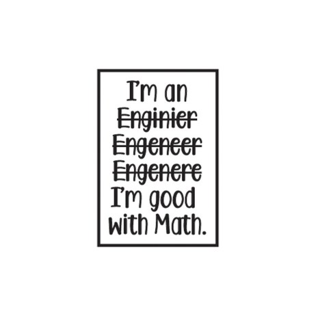 Engineer Spelling Sticker