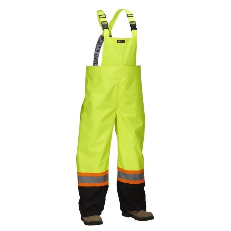 lime safety rain overalls