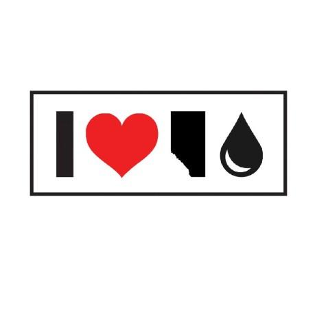 Heart AB Oil Sticker
