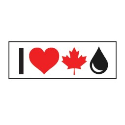 Large I Love Canadian Oil Sticker