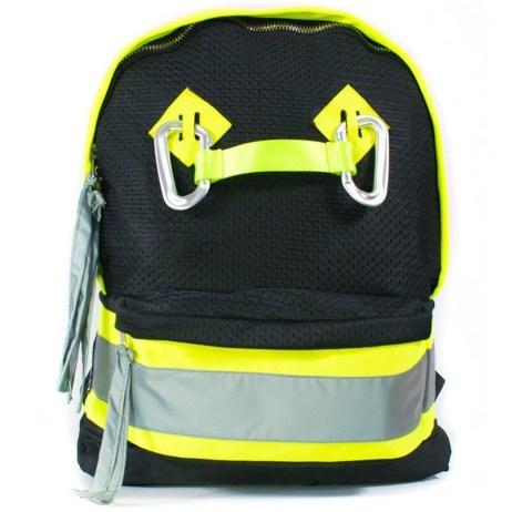 black hi vis backpack front