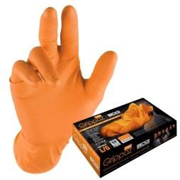 orange nitrile disposable gloves