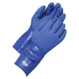 blue pvc gloves