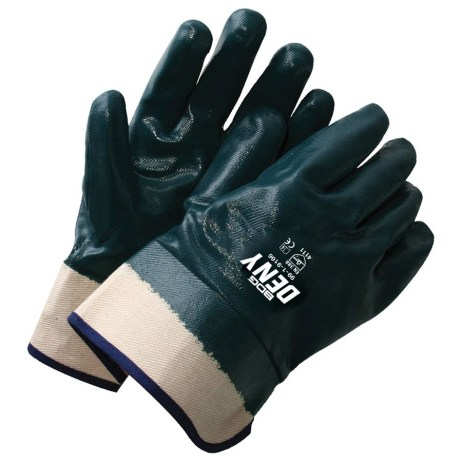 blue nitrile glove