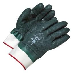 green pvc glove