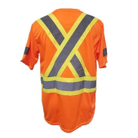back hi viz safety shirt