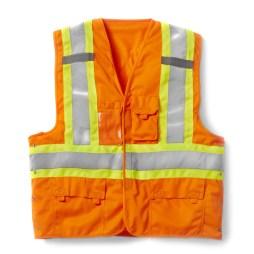 orange velcro vest