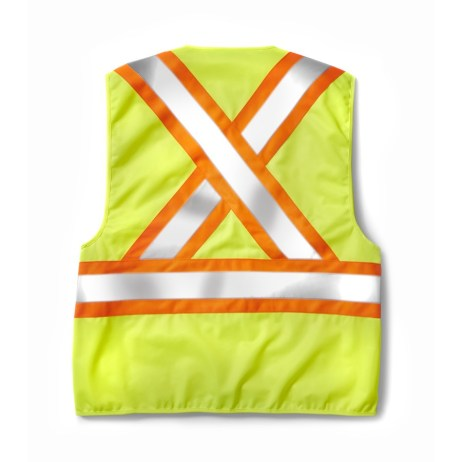 yellow velcro vest back