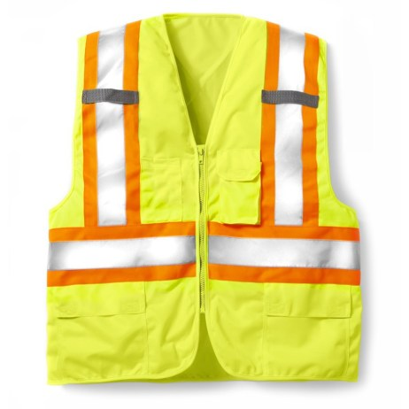 yellow zipper vest
