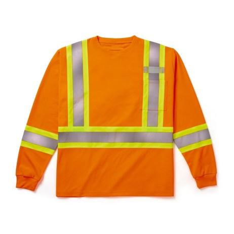 orange long sleeve safety shirt