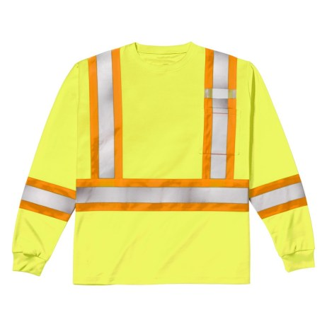 yellow long sleeve safety shirt