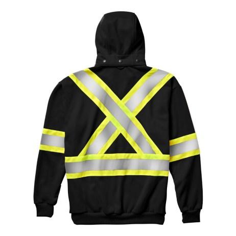 back black hi-viz zip hoodie