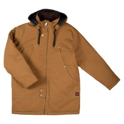 brown duck parka