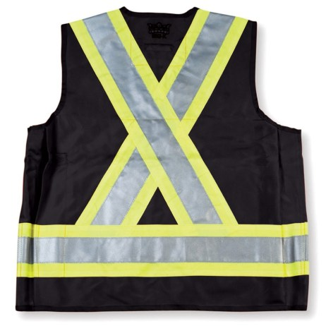 black surveyor vest back