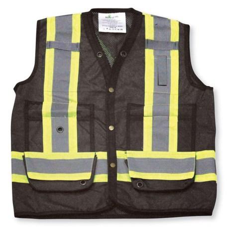 black mesh vest