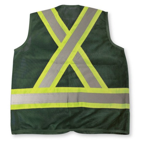 forest green mesh vest back
