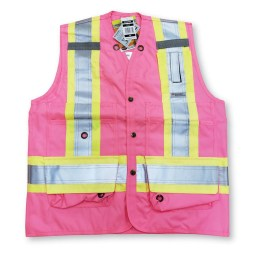 pink surveyor vest