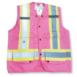 mesh pink surveyor vest