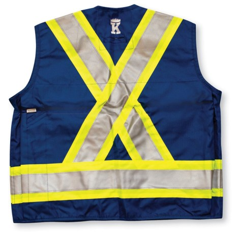royal blue surveyor vest back