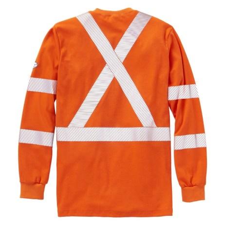 womens orange fr shirt back