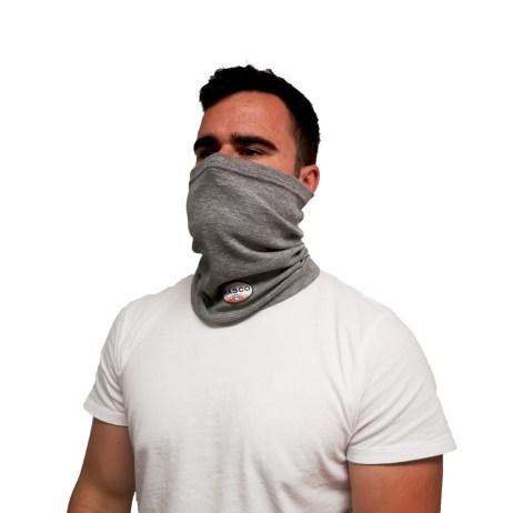 fr neck gaiter wearing