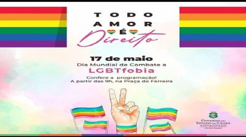 OAB-Ce apoia o Dia Mundial de Combate à LGBT Fobia