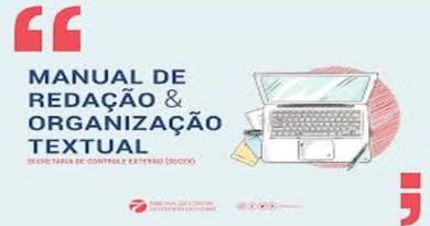 Manual de Redação traz orientações para aprimoramento de relatórios e documentos do controle externo