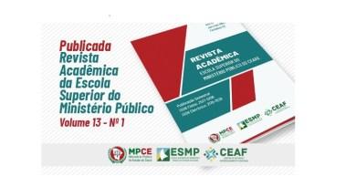 ESMP lança o volume 13 da sua Revista Acadêmica