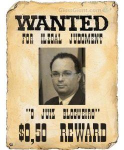 Cartaz: Procura-se Juiz Blogueiro
