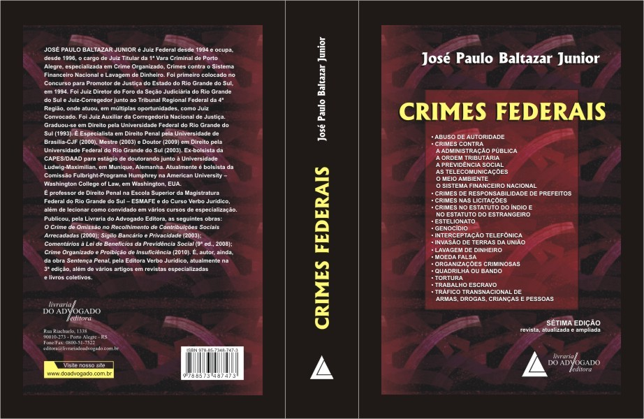 Crimes Federais, de José Paulo Baltazar Jr.