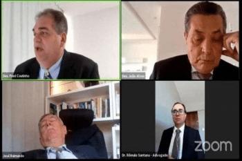 Cansado na audiência vídeo-conferência