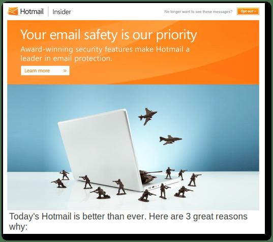 Keamanan Email oleh Hotmail