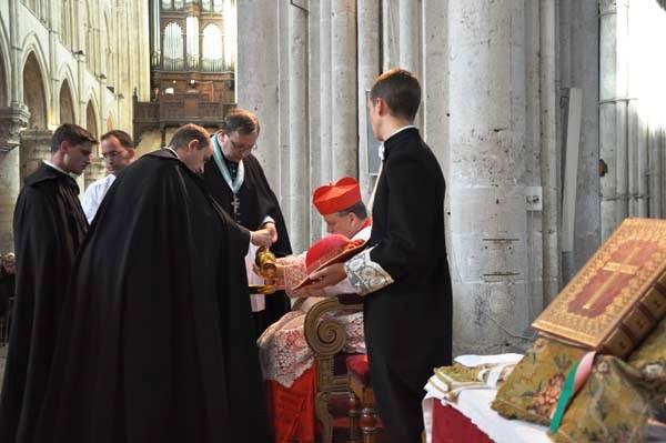 Cardeal Burke batina roquete Lisieux