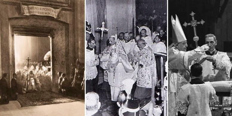 Papas Pio XI Pio XII João XXIII férula