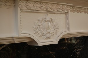 Compo and Basswood mantel center head piece