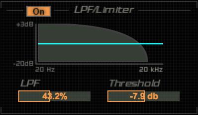 LPF/LIMITERグラフ&パラメータ