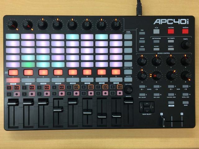 APC40 mcII MIDI Feedback後